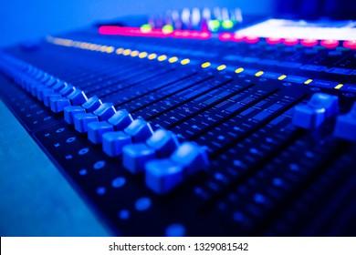 Mixers Audio Interfaces Blue light tone