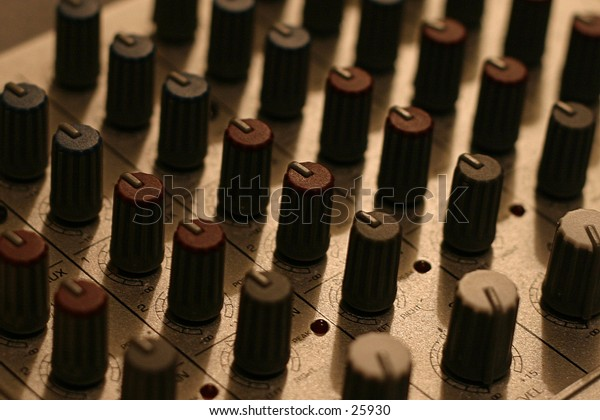 A mixing board.