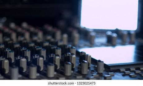 Mixing board Audio Studio