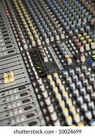 mixing board at concert