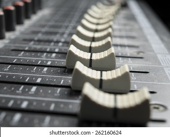 Mixing board faders , for music and sound , entertainment themes