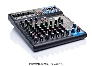 mixing console isolated on white background