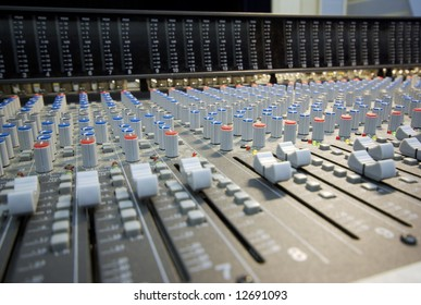 mixing desk perspective