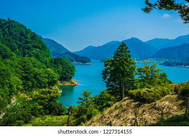 Miyagase Dam and Gen Torii lakeside garden (Kanagawa)