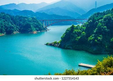 Miyagase Dam and Rainbow Bridge (Kanagawa)
