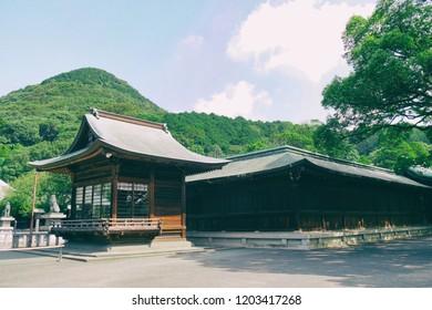 Miyajidake-jinja Shinto Shrine, Fukutsu City, Fukuoka, Japan