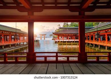 Miyajima Island,  The famous Floating Torii gate in Japan.