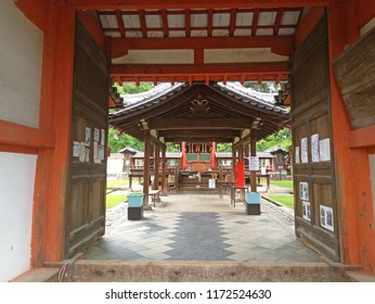 Miyajima, Japan - June 20, 2018: Tourist visit Itsukushima Shrine on Miyajima Island. Miyajima island is a famous island shrine-town is a Unesco World Heritage Site and a major tourism destination.