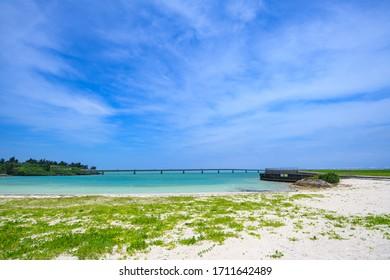 Miyako Island, Okinawa Prefecture Miyako Sunset View from the beach