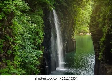 MIYAZAKI, JAPAN - MAY 31, 2012: Takachiho gorge at Miyazaki , Japan