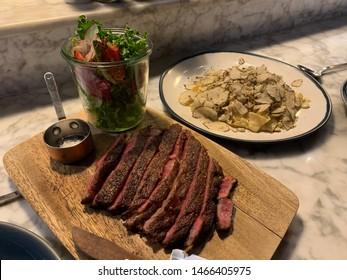 Miyazaki ribeye steak and fresh homemade pasta truffle