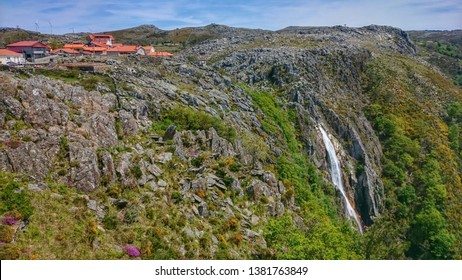 Mizarela waterfall in Arouca Park, Portugal