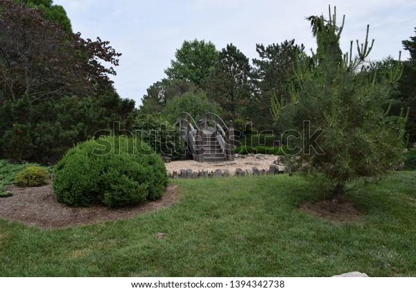 Mizumoto Japanese Stroll Garden Springfield Missouri Stock Photo Edit Now 1394342738