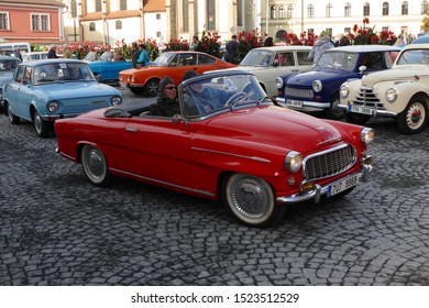 Mlada Boleslav, Czech Republic - Sept 28, 2019 : Oldtimer classic car meeting