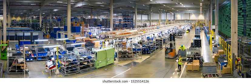 Mlada Boleslav, Czech Republic - September 30 2019: SAS Automotive Systems plant, cockpit assembly line for SKODA AUTO with warehouse