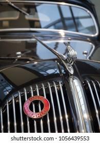 MLADA BOLESLAV - FEBRUARY 10, 2018: Skoda Popular Sport  - Monte Carlo - type 909, year of manufacture 1937. Skoda Museum in Mlada Boleslav, Czech republic. Close up.