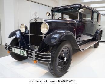 MLADA BOLESLAV - FEBRUARY 10, 2018: Skoda type 645, year of manufacture 1930. Skoda Museum in Mlada Boleslav, Czech republic