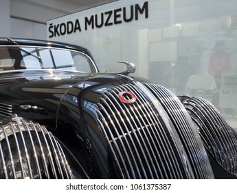MLADA BOLESLAV - FEBRUARY 10, 2018: Skoda Popular Sport  - Monte Carlo - type 909, year of manufacture 1937. Skoda Museum in Mlada Boleslav, Czech republic.