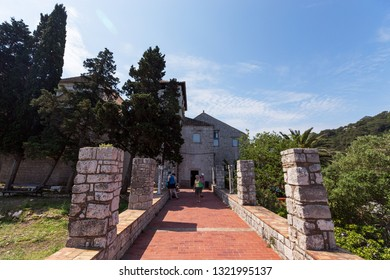 Mljet,Croatia - 14 May 2018 -  Benedictine Church and Monastery, Mljet