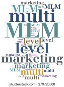 MLM. Multi level marketing. Advertising strategy.