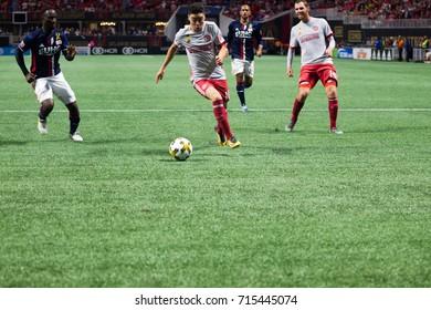 MLS Atlanta United host the New England Revolution on September 13th, 2017 in at the Mercedes Benz Stadium in Atlanta, Georgia - USA