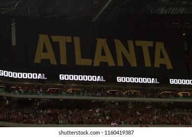 MLS- Atlanta United Vs. Columbus Crew SC at the Mercedes Benz Stadium in Atlanta Ga. Sunday August 19th 2018 MLS Game #281