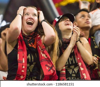 MLS - Fans Cheering - Atlanta United Vs. Real Salt Lake September 23rd, 2018 in Mercedes Benz Stadium in Atlanta Georgia - USA