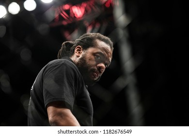 "MMA referee Herb Dean during UFC Moscow fight night: Hunt vs. Oliynyk. ""Olympiisky"" Stadium in Moscow, Russia. 15th of September 2018."