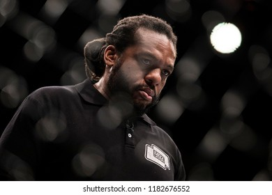 """MMA referee Herb Dean during UFC Moscow fight night: Hunt vs. Oliynyk. """"Olympiisky"""" Stadium in Moscow, Russia. 15th of September 2018."""