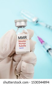 MMR vaccine for Measles, Mumps, and Rubella as outbreaks concept.