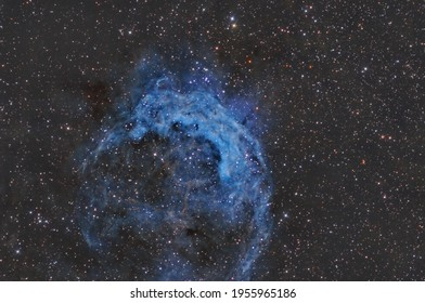 MNC 3199 is am emission nebula in the constellation Carina. It is commonly referred to as the Banana Nebula