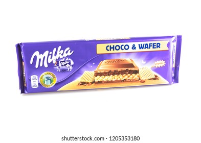 Mnichovo Hradiste, Czech republic - 02/09/2018 - Chocolate of Milka mark, food