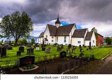 Mo I Rana - June 16, 2018: The church of Mo I Rana, Norway