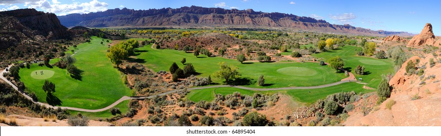 Moab Desert Golf Course Panorama