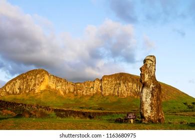 Moai at Ahu Tongariki on Easter Island.