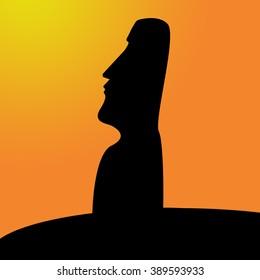 Moai - an idol from Easter Island