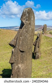 Moai Statue, Easter Island (Isla de Pascua), CHile. Unesco World Heritage
