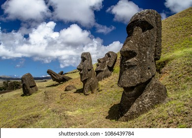 Moai statues on Easter Island