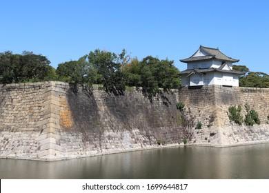 Moat around the Osaka Castle, Japan