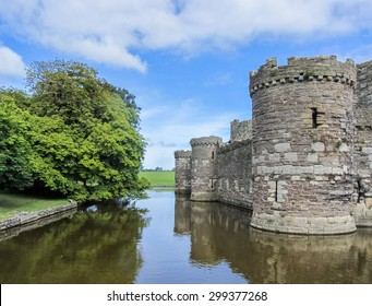 The moat of the Beaumaris Castle, in Wales