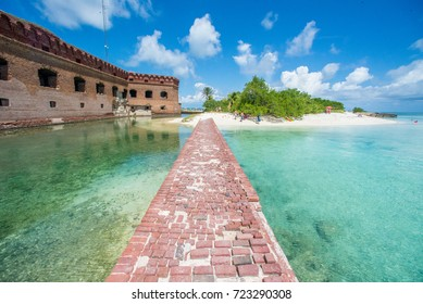 Moat at Dry Tortugas National Park. Fort Jefferson. Florida Keys.