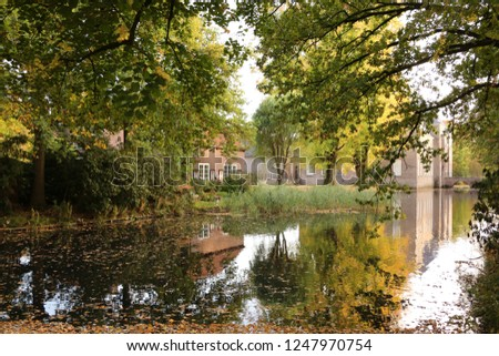 Moat Moated Castle Noord Brabant Holland Stock Photo Edit Now
