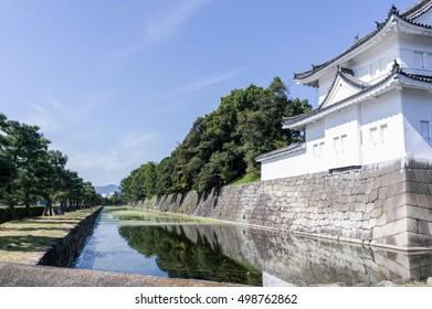 Moat of Nijo-jo Castle, Kyoto, Japan