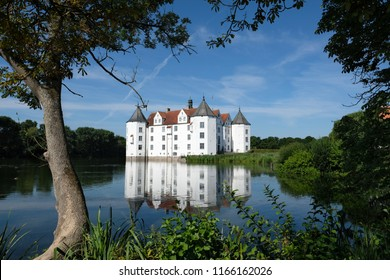 The moated castle Glücksburg in northern Germany