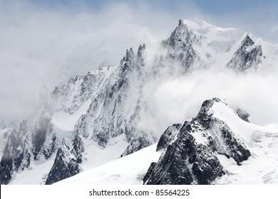 Moauntain landscape in Haute Savoie, France