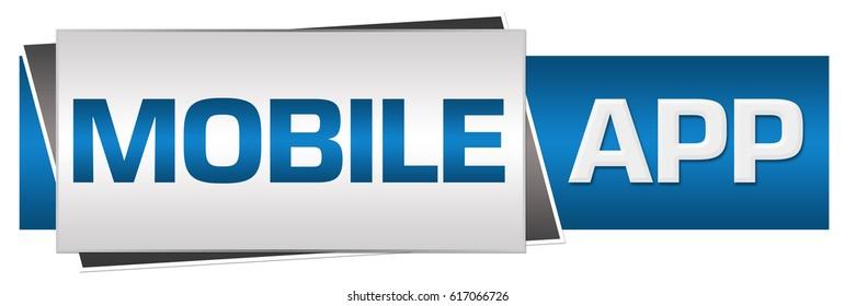 Mobile App Blue Grey Horizontal