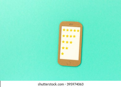 Mobile app rating & customer review concept