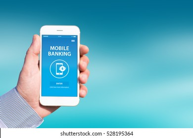 MOBILE BANKING CONCEPT ON SCREEN