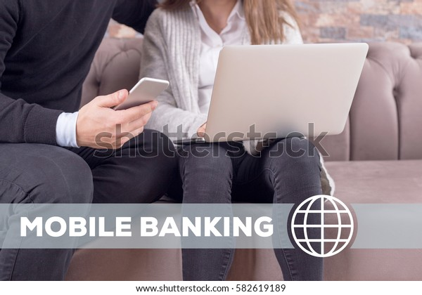 Mobile Banking Technology Concept