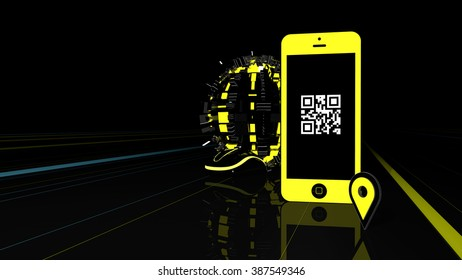 Mobile, bar code and web elements